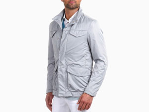 Caban Trench in Grey